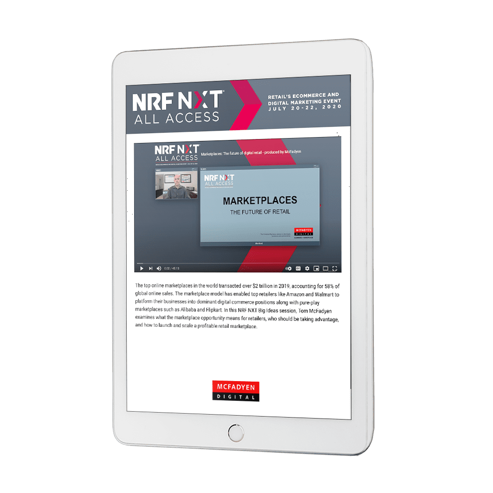 Retail Marketplaces on tablet